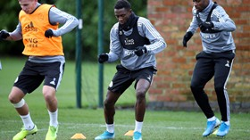 (Snapped) Ndidi Training With Leicester Teammates As Rodgers Delivers Good News On Super Eagle