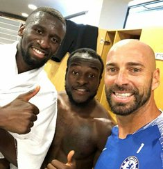 Chelsea's Moses Training At Cobham, New Role For Super Eagles Star In New Season