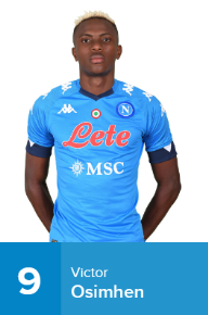 Napoli Confirm Osimhen's Squad Number For 2020-21 Season Ahead Of Potential Debut