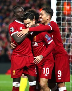 Liverpool 7 Spartak Moscow 0 : Solanke Benched, African Stars Score