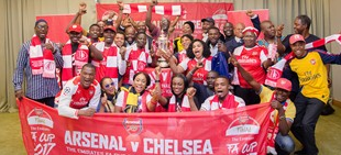 Arsenal Bring Emirates FA Cup To Nigeria, Hand Out Goodies To Fans