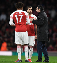 Europa League Expert Emery Explains Why Iwobi Replaced Lacazette 20 Minutes From Time