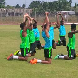 How Super Eagles Team A, B & C Lined Up In Training; Aina & Idowu Score Beauties