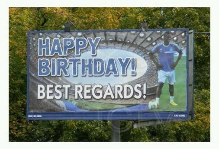 Loyal Dynamo Kiev Fan Erects Billboard To Congratulate Ideye