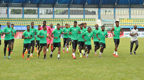 Nigeria U23 Final Workout : Rohr Watches; Tactical Session Held; Penalties Practiced; Osimhen Leads Team A Attack