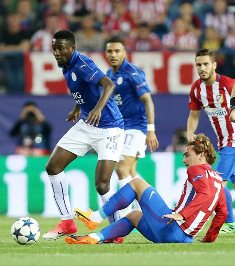 Ndidi Takes Care Of Atletico Dangerman Griezmann As Leicester Narrowly Lose In Madrid