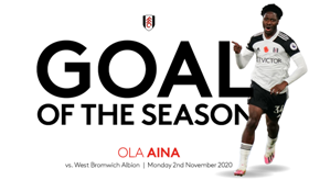 Super Eagles fullback beats Lookman, 4 others to win Fulham's Goal of the Season