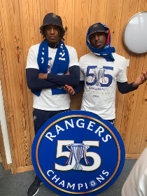 Super Eagles duo Balogun, Aribo React As Rangers are crowned champions after Celtic fail to win :: All Nigeria Soccer