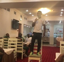 Brian Idowu Wows Eagles Teammates At Initiation, NFF Say His Voice Is Sexy