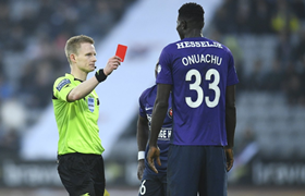 FC Midtjylland's Onuachu Maintains Excellent Disciplinary Record As Red Card Overturned