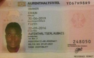 (Photo Confirmation) Ex-Nigeria U23 Skipper Obanor Issued Work Permit In Germany