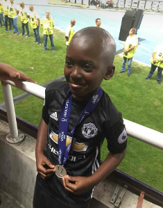 Mourinho Handed Super Cup Runners-Up Medal To A Nigerian Who Wants To Play For Man Utd