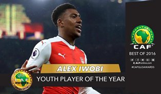 Arsenal Congratulate Talented Nigerian Duo Iwobi & Oshoala On Winning CAF