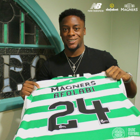 Official : Nigerian Striker's Jersey Number Revealed As Celtic Announce Signing