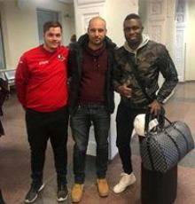 (Photo) Exclusive: Super Eagles Defender Jets Into Lithuania To Sign FK Sūduva Deal
