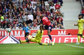 'This Boy Is On Flames' - Nigerians React As Osimhen Nets Brace On Lille Debut