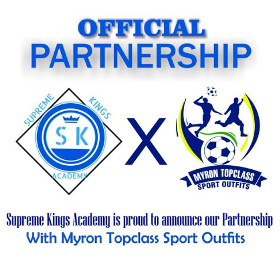 Supreme Kings Academy Announce Partnership With Myron Topclass Sport Outfits