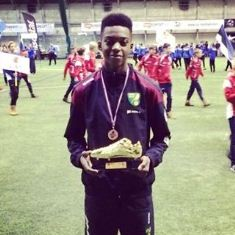 Manchester United Fan Omotoye Scores FOUR Goals Against Man City In U16 PLC