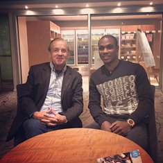Super Eagles Coach Visits Watford Star Odion Ighalo In UK