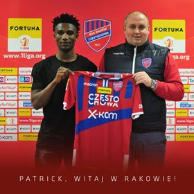 Confirmed : Patrick Friday Switches To Rakow Czestochowa; Osaguona Joins Zob Ahan SC