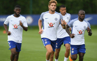 Details Of Chelsea Training Session : Omeruo Returns To First Team, Moses, Tomori Wing-Backs