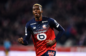 Lille Hot Shot Osimhen Four Goals Shy Of Breaking 22-Year-Old Nigerian Record In France