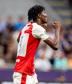 Slavia's Olayinka Gets A 10/10 Rating After Scoring Vs Inter Milan, Reacts To Maiden UCL Goal