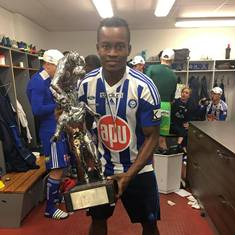 (See Photo) Hard-working Midfielder Onovo Celebrates Winning The League In Finland