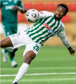 5ft 8in tall ex-Eagles assistant captain Onazi celebrates first headed goal of his career in Lithuania