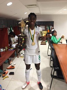 Arsenal Striker Oshoala, Two Nigeria Stars Named In AWCON Team Of The Tournament