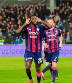 Crotone's Super Eagles Star Close To Matching Personal Best After Netting 18th Goal Of Season