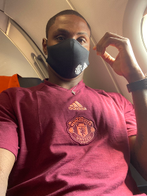 Odion Ighalo Lands In Cologne With Manchester United Squad Pre-FC Copenhagen