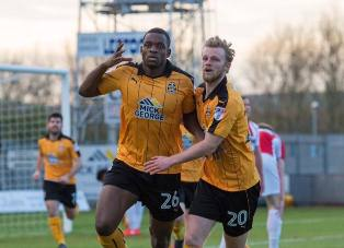 Nigeria Target Uche Ikpeazu Hits Eighth Goal Of The Season For Cambridge United