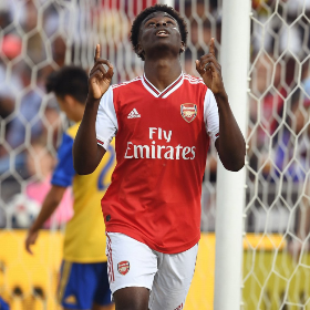 Saka Named In Arsenal's Provisional Squad Vs Eintracht Frankfurt; 6 Eligible Nigerians Miss Out