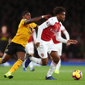 English Press Labels Iwobi Hit And Miss, Strongest Member of Arsenal's Attack In Draw Against Wolves