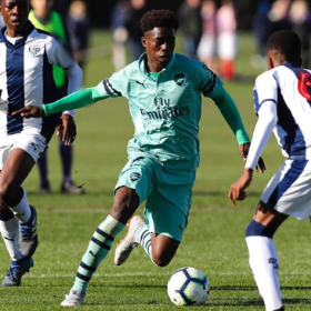 Arsenal Super Kid Celebrates Maiden Nigeria Call-Up With A Goal And Three Assists Vs Aston Villa U16s